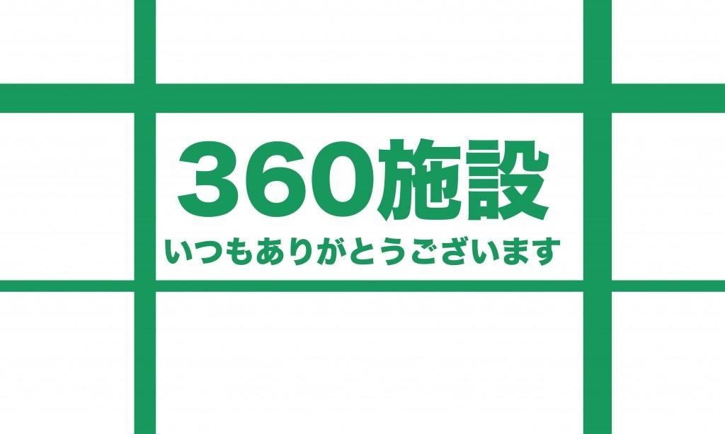 【プレスリリース】お取引施設様が360施設様になりました。